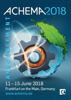 ACHEMA 2018 Announcement